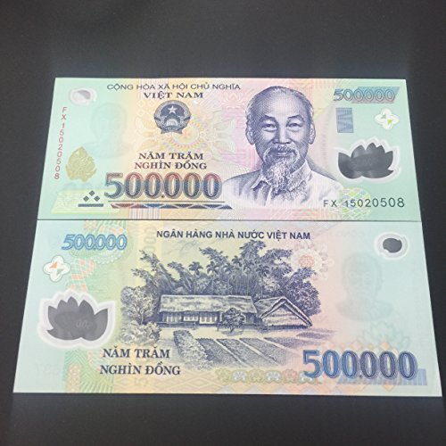 2 x 500,000 Dong VIETNAM MONEY POLYMER CURRENCY BANKNOTES UNC