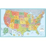 rand mcnally m series full color laminated united states wall map 50 x 32 inches rm528960911
