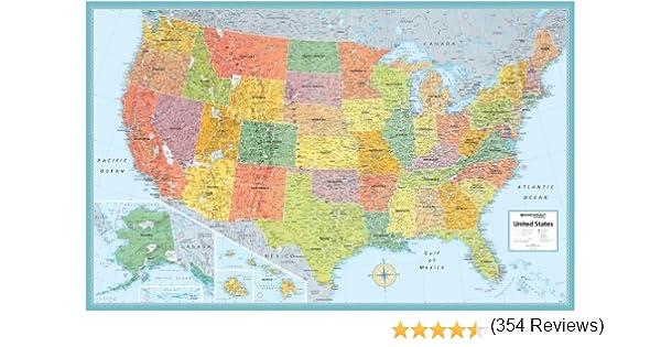 Rand Mcnally Us Wall Map M Series USA Wall Maps X Rand - Us map pi