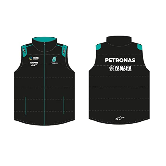 Yamaha Pétronas Chaqueta sin Mangas Negro - S: Amazon.es ...