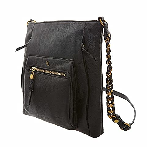 Elliott Lucca Gwen Crossbody Handbag, Black - Elliott Lucca Leather Shoulder Bag