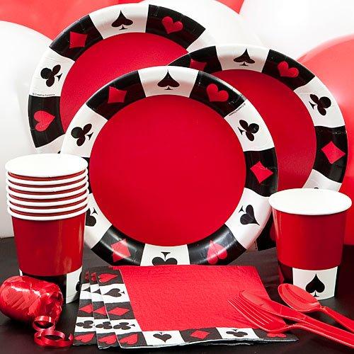 Vegas Casino Card Suit Party Pack Party Supplies Decorations Plates Napkins Cups ()