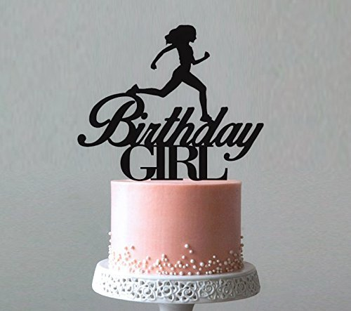 Amazon Runner Birthday Girl Cake Topper Cross Country