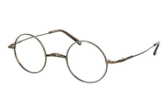 e5d041df4ee Amazon.com  John Lennon Wheels Mens Eyeglass Frames - Copper Antique ...