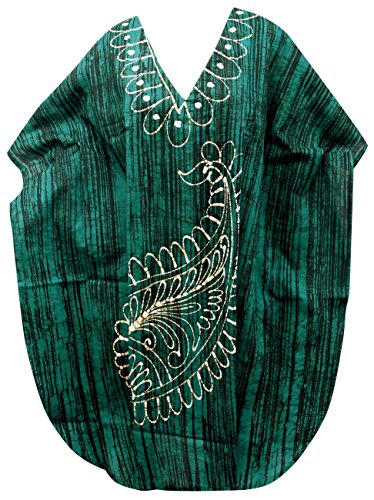 Cotton Batik Caftan Dress - 3