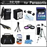32GB Accessory Kit For Panasonic HC-X920, HC-X920M, HC-X900M, HC-X900 HC-X800 Camcorder Includes 32GB High Speed SD Memory Card + Replacement (1500Mah) VW-VBN130 Battery + Ac/Dc Charger + Case + Tripod + 3PC Filter Kit (UV-CPL-FLD) + Mini HDMI Cable +More