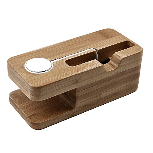 Charging Station Wooden Bamboo Holder