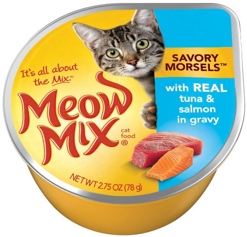 Meow Mix Savory Morsels with Real Tuna and Salmon, 2.75-Ounce (Pack of 24), My Pet Supplies