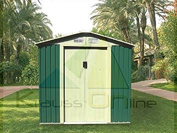 Remise en Conteneur pour Jardin Métal Vert Tools: Amazon.fr: Jardin