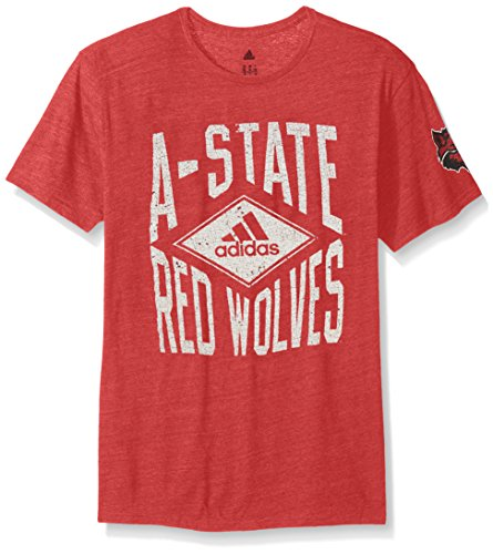 NCAA Arkansas State Red Wolves Men's Diamond Mine Tri-Blend Short Sleeve Tee, X-Large, Power Red Heathered