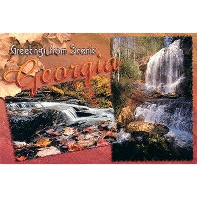 Georgia Ga Postcard (Bulk Buys Georgia Postcard Ga121 Ga Waterfalls - Case of)