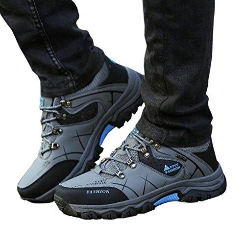 Plein Hommes Haute Bottes Chaussures villus Air Pour Gris D'escalade De Top En Trekking Imperméable Marche Antidérapantes Chaud Randonnée Meijunter wqPRfdII