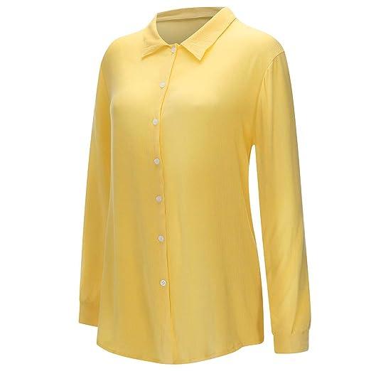 Camisa Mujer, Wave166 Camisa Mujer Estampada Estilo Talla ...