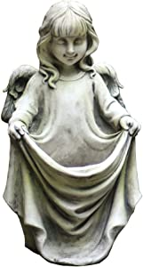 ZXYY Cherubs Garden Sculpture Vintage Resin Angel Statue Elegant Figurine Home Decor for Yard Patio Garden Q 25x24x45cm (10x9x18inch)