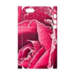 3D Bumper Plastic Customized Case Of Colorful Rose Case For HTC One M8 Cover,5S
