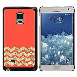 Be Good Phone Accessory // Dura Cáscara cubierta Protectora Caso Carcasa Funda de Protección para Samsung Galaxy Mega 5.8 9150 9152 // Orange Zig Zag Pattern