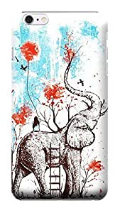 ABCiphonecase 3D Best Romantic Fairy Elephant PC Hard Cases for iphone 6 plusd 5.5""
