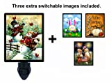 Night Light w/ Switchable Inserts - Holiday Themed Images