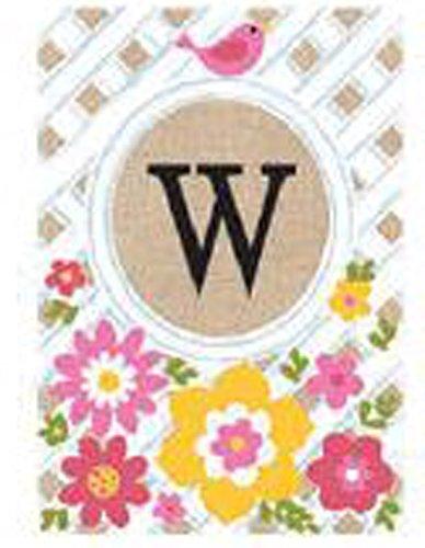JEC Home Goods Monogrammed Garden Flag - Garden Lattice Spring Summer Garden Flag 12.5 x 18 (W)