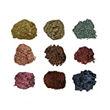 Mineral Shimmer Makeup Eyeshadow Highlighting Powder - Glitter Metallic Dust for Face, Hair & Nails (9-Stack - Diamond)