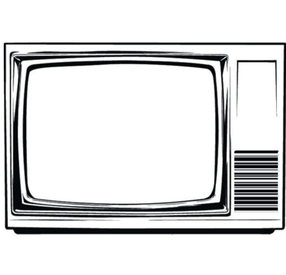 Pegatinas De Pared Televisor Estilo Retro 55X80Cm Diy Art Sticker ...