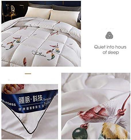 ZTBXQ Accueil Ustensiles Couette Couette Coton Épais Hiver Quilt Down Confort Chaud Plume Preuve Plume Velours Coton Hiver Quilt Core Imprimé Couette (4180 * 220cm 3kg)