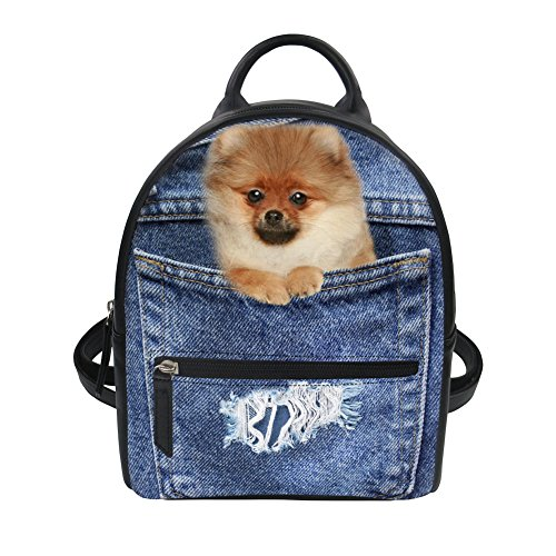 HUGS IDEA Mochila de a diario, Cat3 (Azul) - Y-CC2296Z4 Pomeranian2