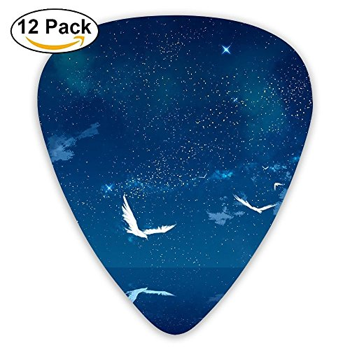 12-pack Fashion Classic Electric Guitar Picks Plectrums Sea Birds Lighthouse Instrument Standard Bass Guitarist