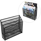 Black Metal Mesh Desktop Magazine/Folder Holder, 3