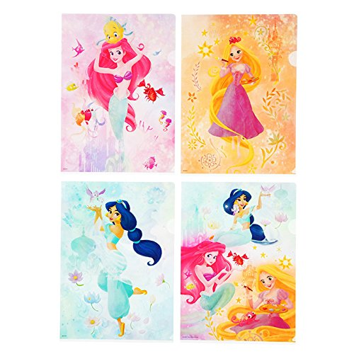 Disney Princess Reuseable Clear File Folder Holder, Letter Size, Set of 4, Japan Import: Amazon.co.uk: Office Products