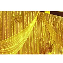 8 Modes Choice 10m X 4m 1280 LED Indoor / Outdoor Party String Fairy Wedding Curtain Light Christmas Xmas Decoration New Year Decoration 110v (Yellow)
