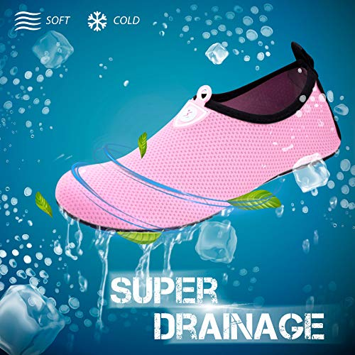 Dot Dry Yoga and Outdoor for Womens Water Exercise Beach Aqua SWS001 Pink Surf Barefoot SIMARI Quick Socks Swim Shoes Mens cAUZfnWnx