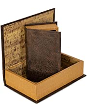 BNFUSA GFBOOK2 Safety Box 2 Piece Faux Book Safe Set, Multisizes, Gold