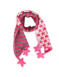 ABC® Children Scarf, Children Christmas Classical Five Pointed Star Knit Scarf (Hot Pink)