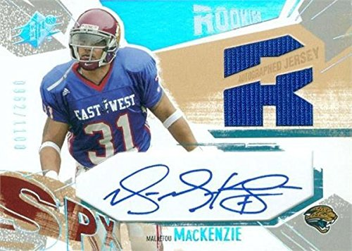 Malaefou MacKenzie Autographed Jersey - player worn patch Card USC Trojans 2003 Upper Deck SPX Rookies (Authentic Player Autographed Card)