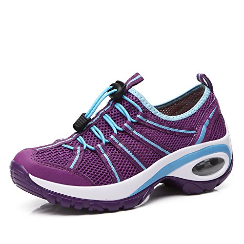 A17803 Jogging On Women Slip Platform Enllerviid Fitness Running Purple Thick Shoes Walking Bottom with w7xqwB