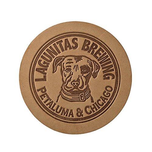 (Lagunitas Brewing Company - Deluxe Leather Logo Coaster)