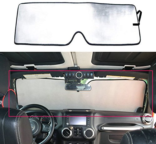Bolaxin Windshield Sunshade Sun Shade for Jeep Wrangler 2007-2018