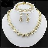 White Color Pearl Imitation Necklace Set