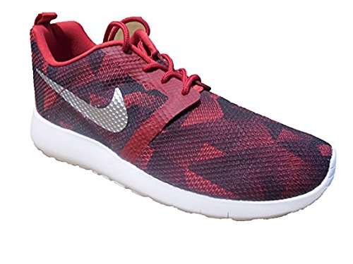 white black gym Nike Weight red Flight Top metallic Low Rosherun Children Gs Sneakers Unisex Jr 600 silver 6fxU4