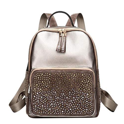 voyage en de sacs strass cuir dos femmes sacs haute dos sac loisirs PU Style retour Gold femme de capacité sacs de YWH0TnqZ