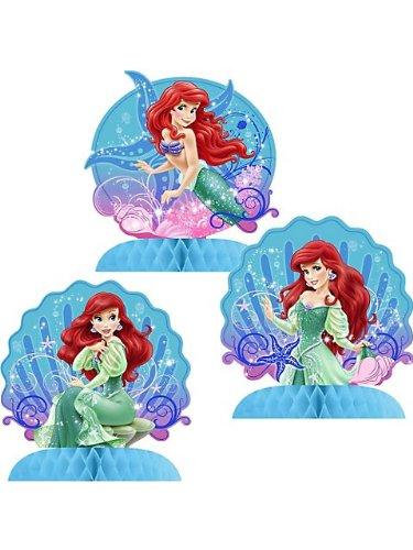 Little Mermaid Sparkle Mini Table Centerpieces - 3 Count ()