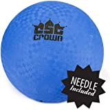 Crown Sporting Goods 8.5-inch Official Size Dodge Ball with Textured Grip - Playground Balls for Kickball, Foursquare