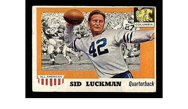 Amazon.com  1955 Topps  85 Sid Luckman VGEX X1020854  Collectibles   Fine  Art 27506a263