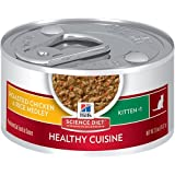 Hill's Science Diet Kitten Healthy Cuisine Wet Cat Food, Roasted Chicken & Rice Medley Canned Cat Food, 2.8 oz, 24 Pack