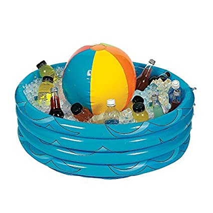 beach ball in pool. Inflatable Beach Ball In Pool Cooler