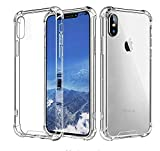 Yking Compatible with iPhone Xs Max Case Reinforced Corners TPU Cushion + Anti-Scratch Rugged Transparent Panel Fit with Apple iPhone Xs Max 2018 Transulcent Clear