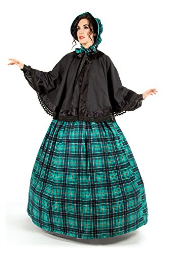 Reminisce Plaid Tartan Dickens Civil War Costume (L/XL, Green) ()