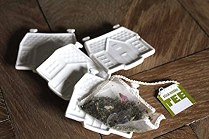 Riviera Maison Houder.Riviera Maison Tea Bag Holder 4 Pcs Amazon Co Uk Kitchen Home