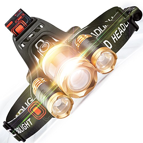 5000 Lumens 4 Modes Waterproof Rechargeable Headlamp Cree Led Headlamp Flashlight For Cycling  Running  Dog Walking  Camping  Hiking  Fishing  Night Reading And Diy Works  By Stct Street Cat
